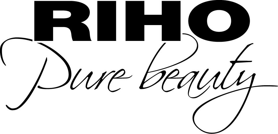 RIHO logo + slogan Black